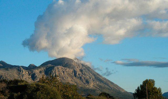 Serekas, the smoking mountain!
