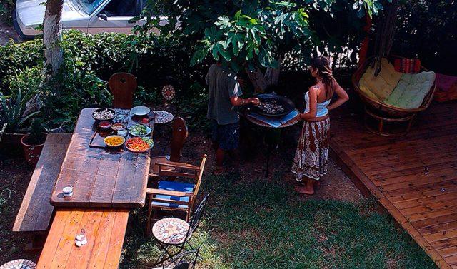 Preparation in Antonios Guesthouse Garden