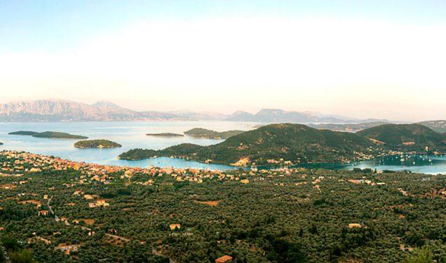 View from the Villa to Nydri Bay - Lefkada